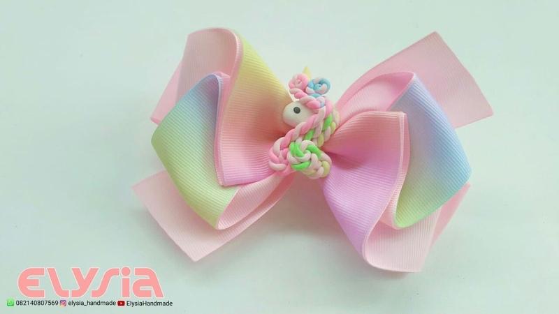 Laço Audy Unicorn 🎀 Ribbon Bow 🎀 DIY by Elysia Handmade