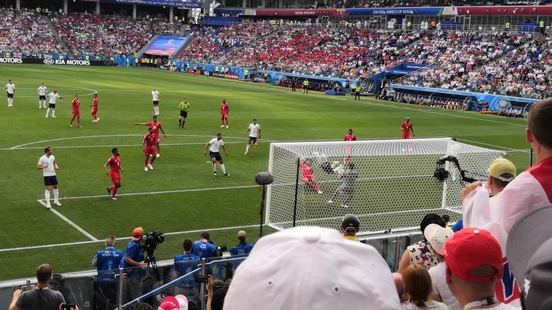 Гол с розыгрыша штрафного Англии в ворота Панамы