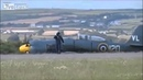 Hawker Sea Fury crash landing at Air Show