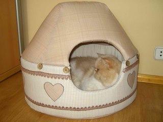 Домик для кошки своими руками сшить