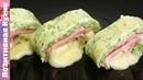 СУПЕР Закуска из Молодых Кабачков рулет с сыром и ветчиной! Zucchini Roll Recipe