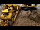 BIG Cat D11T Dozer in Action ♦ Construction Site Excavator Dumper Caterpillar Trucks Baustelle RC