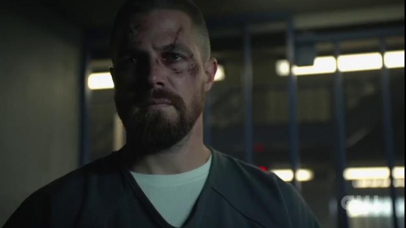 Arrow [7x1] Oliver Prison Fight Scene
