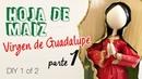 Hoja de maiz Virgen de Guadalupe