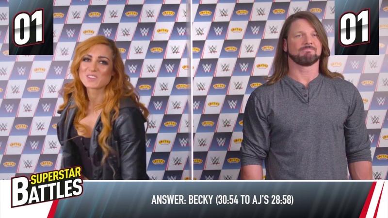 WWE Superstar Battles w/ Becky Lynch AJ Styles - Smyths Toys