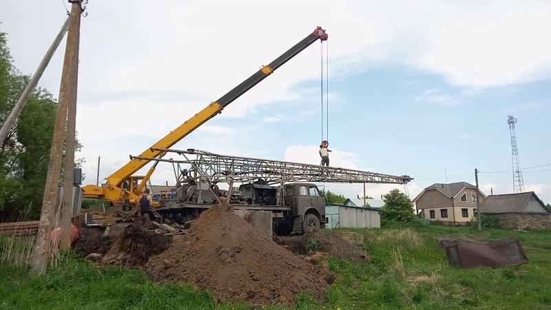 Село Котел.МАЙ 2018 г. Ремонт скважины на воду.