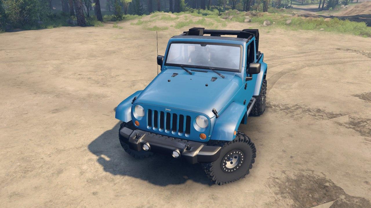 Jeep wrangler 1.0 для Spintires - Скриншот 2