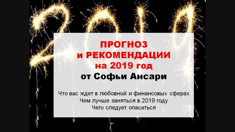 Прогноз и рекомендации на 2019 год от Софьи Ансари
