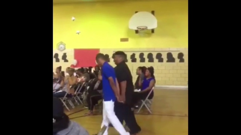 WOMAN BREAKS CHAIR AT GRADUATION!