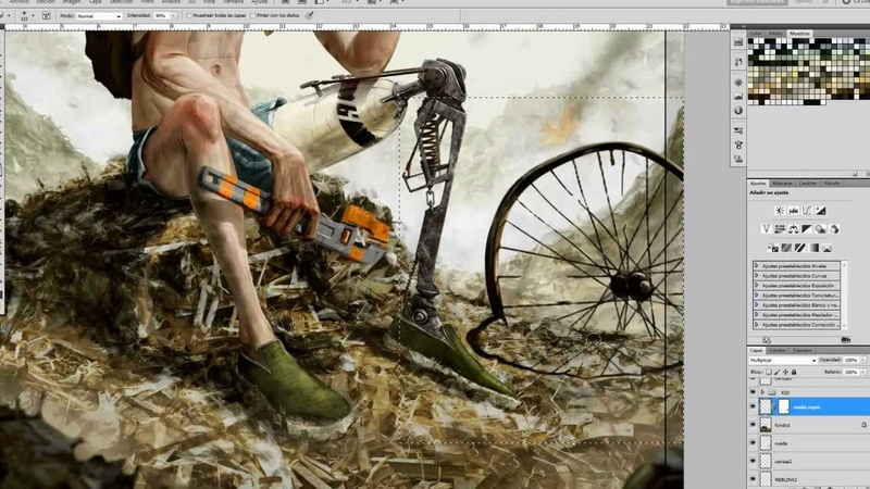 DEISIGN | Post-Apocalyptic Cover Illustration Timelapse
