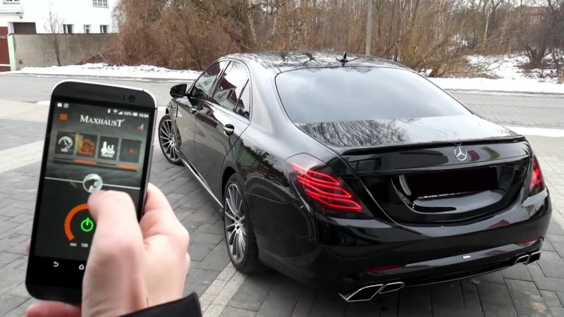 Mercedes-Benz S350d W222 _ V222 with Maxhaust active exhaust and Carlsson bodyki