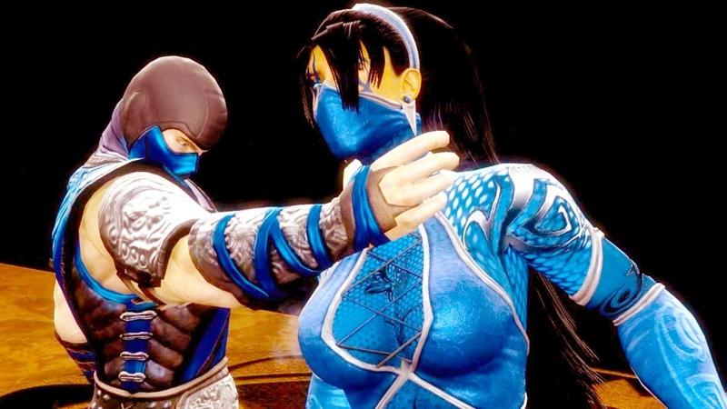 Mortal Kombat 9 All Fatalities X rays on Kitana Blue Queen Costume 4K Ultra HD Gameplay Mods