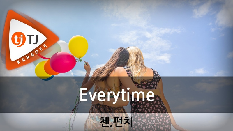 [TJ노래방] Everytime(태양의후예OST) - 첸(EXO),펀치(CHEN,Punch) / TJ Karaoke