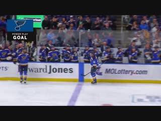 3-й гол Владимира Тарасенко в сезоне НХЛ 2017/18 Сент Луис Блюз - Коламбус Блю Джекетс. Гол в ПП.