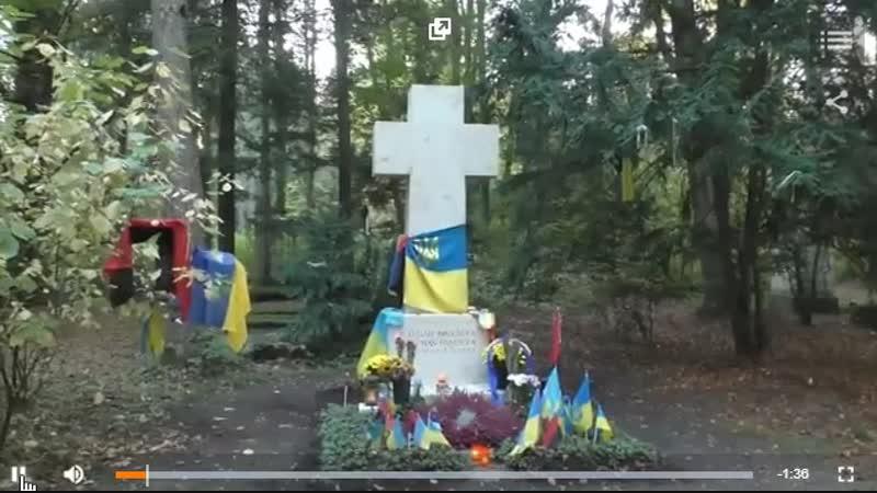 Британский журналист Грэм Филлипс сорвал флаг с могилы Бандеры напомнил, что почитание фашистов в Германии незаконно