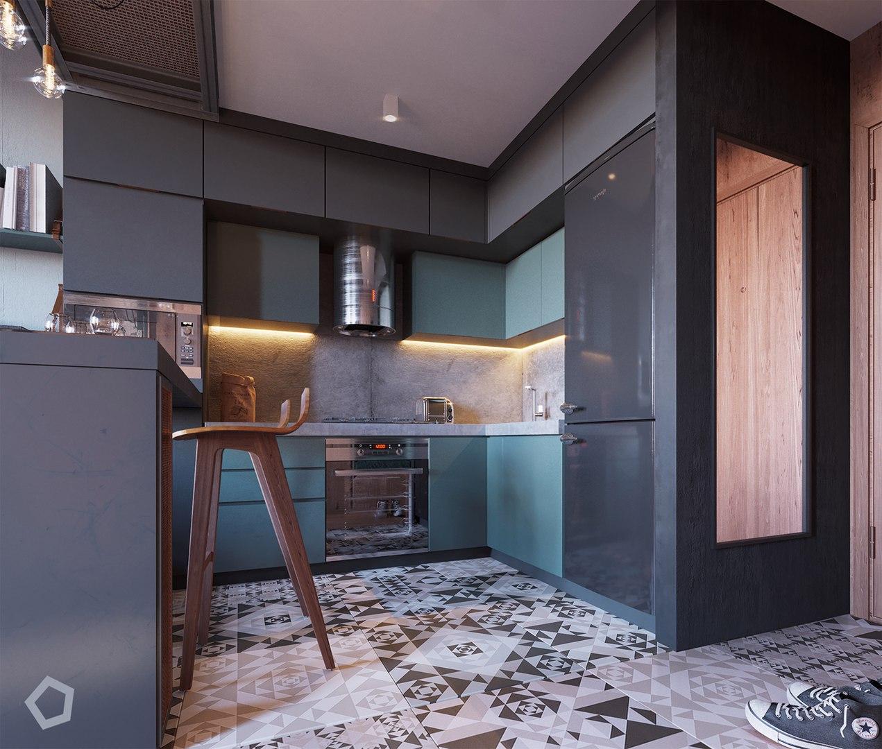 Проект квартиры-студии площадью 29 кв.