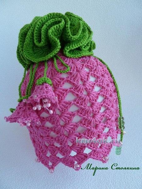 Шапочка и сумочка для девочки работа Марины Стоякиной...