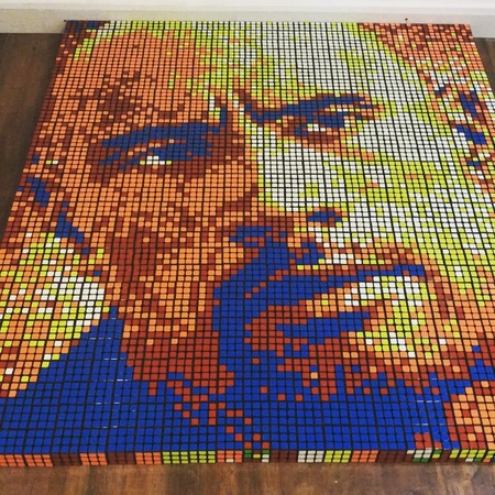 Giovanni Contardi on Instagram @therock 725 Rubik's cubes I've been wanting to create a Dwayne Johnson's portrait for a while he has been a b