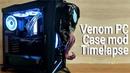 Custom Venom themed PC - Case mod timelapse