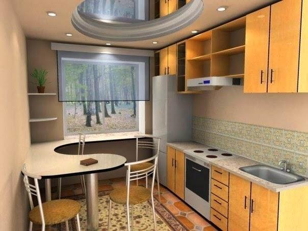 Дизайн на кухне 6 метров