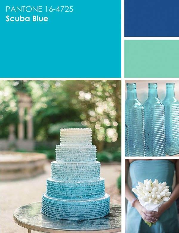 цвет свадьбы - голубой
