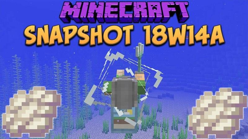 Minecraft 1.13 Snapshot 18w14a Phantom Membrane! Slow Falling Potion Trident Riptide Changes