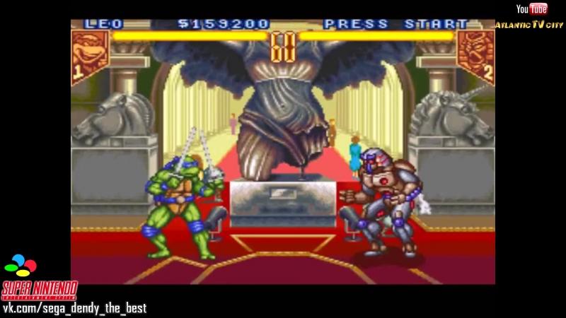 Черепашки Ниндзя Турнир Бойцов Super Nintendo Teenage Mutant Ninja Turtles Tournament Fighters SNES