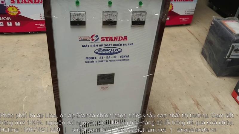 Máy Biến Áp 50KVA 3 Pha STANDA Đổi Nguồn 380V Sang 220V200V Cho Máy Nhật Bản, Hàn Quốc