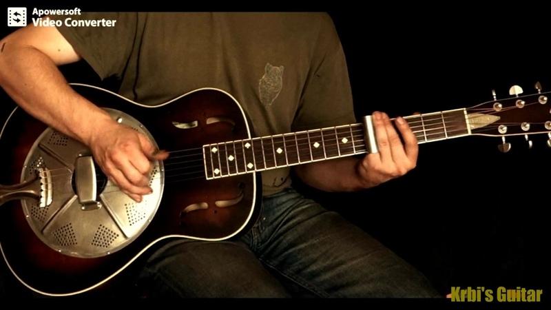 Krbi's Guitar - Hobo on the street (bottleneck slide guitar)