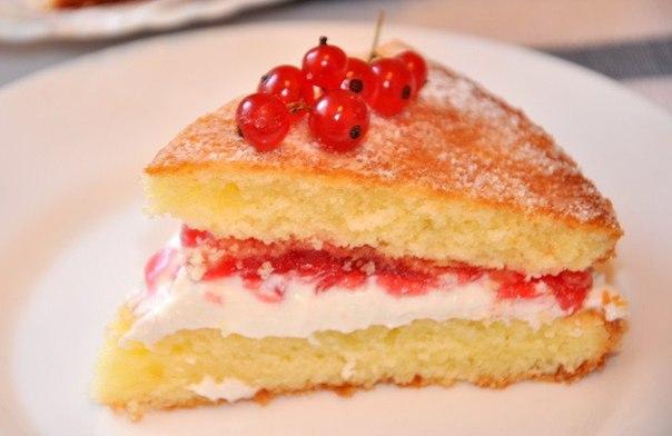 Торт «Виктория» или «Викторианский бисвит»