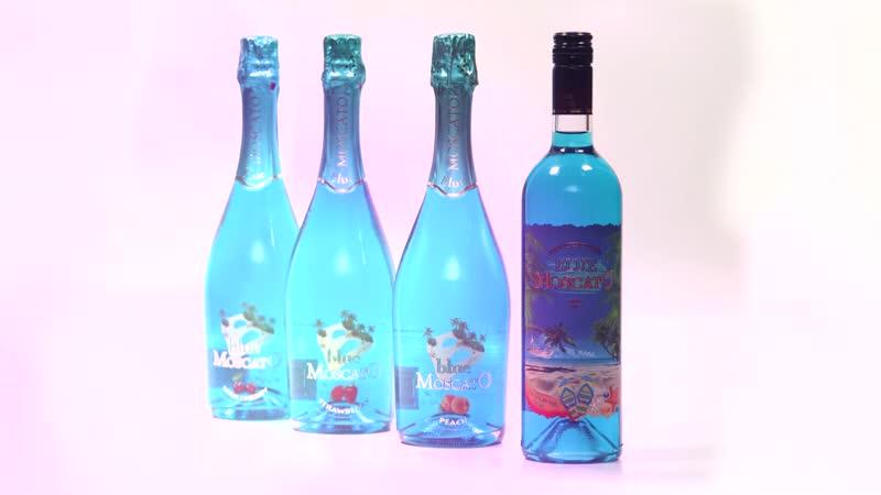 Blue Moscato sparkling