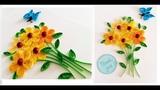 Quilling Flower For beginner Learning Video 1