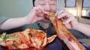 몽둥이 통삼겹과 김치 리얼 이팅 사운드 먹방! Long Pork belly Kimchi Real Eating Sounds Mukbang ASMR b^^d