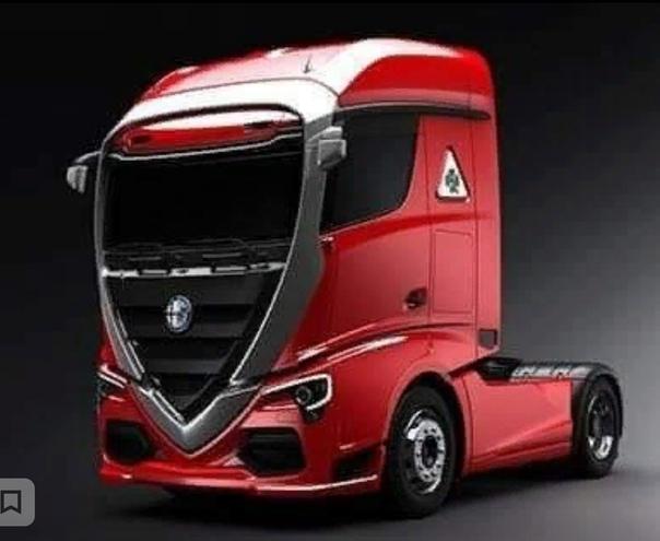 Магистральный тягач Alfa Romeo, как вам Эта картинка была выложена в сообществе Alfa Romeo Bella Italia. В истории Альфы, кстати, были грузовики. Но явно менее эффектные. Например, Alfa Romeo