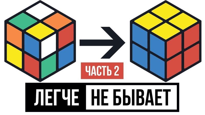 Как собрать кубик Рубика 2х2 для начинающих. Часть 2