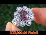TOP GEM GIA Pink Sapphire &amp Diamond Ring -