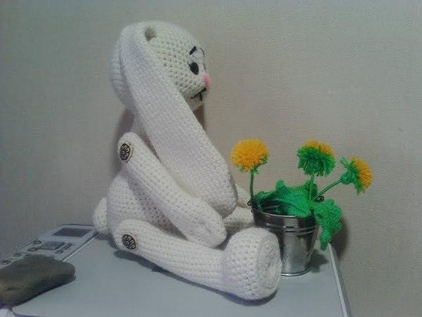Зайка Няша, ч.1. Bunny Nyasha, р.1. Amigurumi. Crochet. Амигуруми. Большая игрушка крючком.