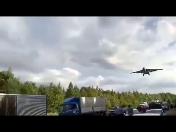 Под Хабаровском военные самолеты приземлялись на автотрассу