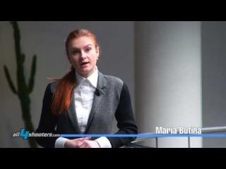 """ENG - Maria Butina, Chairman of the Russian organization """"The Right to Bear Arms"""""""