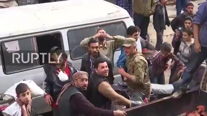 Syria_ Douma residents celebrate liberation of city by SAA