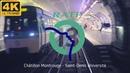 EN CABINE SUR LA LIGNE 13 VOIE 1 DU MÉTRO PARIS RATP 4K