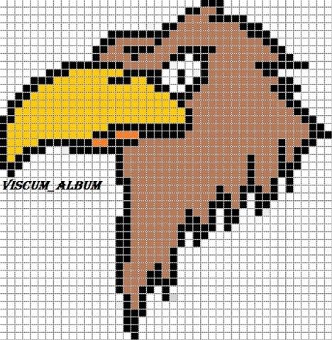Схемы птиц, прямое плет.