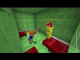 Троллинг школьника домом из блоков слизи в Minecraft 2 (Анти-грифер шоу)