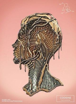 Художник под разными наркотиками 10 раз нарисовал одну картину. Художник Брайан Поллетт поставил довольно опасный творческий эксперимент, уйдя в 20-дневный наркотический запой. Каждый день он