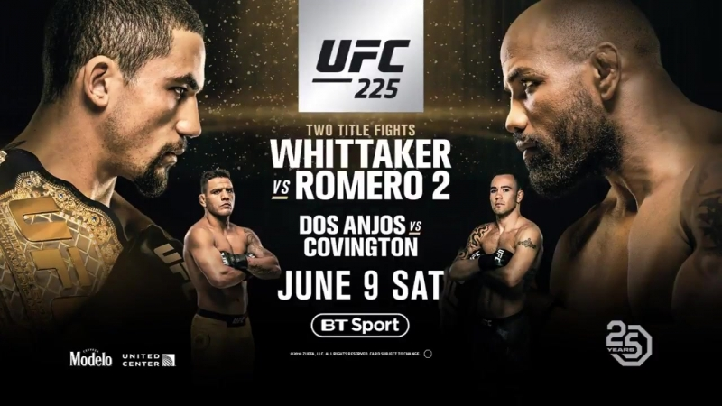 UFC225 is STACKED! - - Whittaker vs Romero - RDA vs Colby - Holm vs Anderson - Arlovski vs Tuivasa - CM Punk vs Jackson - Overee