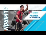 Мигель Альмирон - лучший игрок 9-й недели