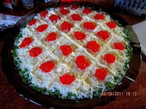 салат царский с семгой фото