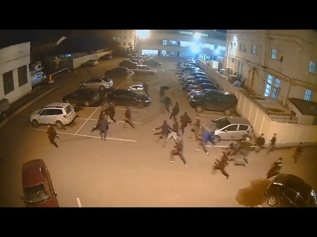 UTV. Подростковая стрелка в Уфе попала в объективы видеокамер
