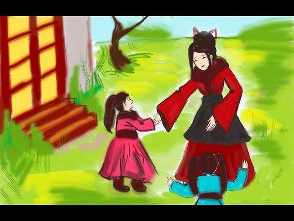 Conte de fées en français. Les plumes de la grue. Conte de fées japonais. Contes pour enfants