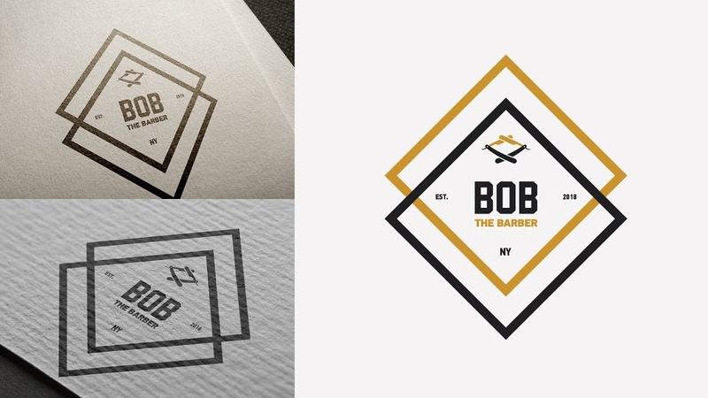 Ep.13 : Design a Logo for a Barbershop dailylogochallenge